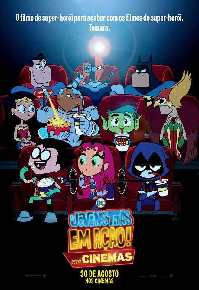 Cartaz - Os Jovens Titãs em Ação! Nos Cinemas